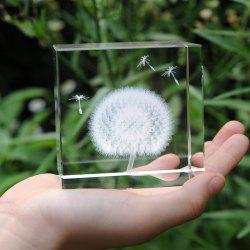 Crystal Decoration Dandelion Plant Specimens Creative Birthday Gift Desktop Decor - TRANSPARENT