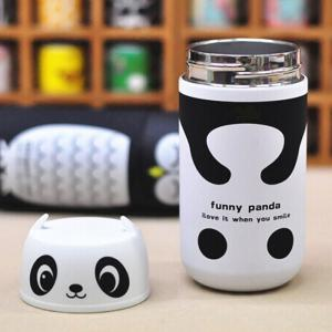 Panda Shape Vacuum Water Cup Practical Stainless Steel Thermoses 220ml - COLORMIX PANDA SHAPE