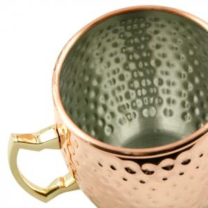 Hammer Finished Mule Copper Mug Daily Use Drinking Cup -