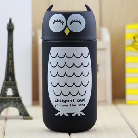 Latest Owl Shape Vacuum Water Cup Practical Stainless Steel Thermoses 220ml COLORMIX OWL SHAPE