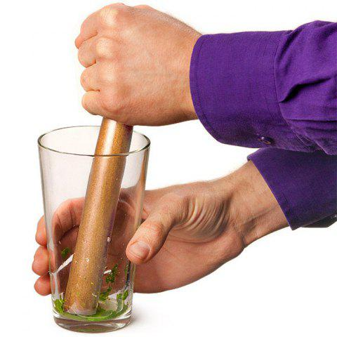 Solid Wooden Cocktail Muddler Crushed Hammer Bar Accessories - BROWN
