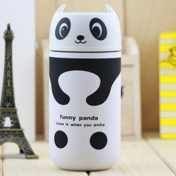 Panda Shape Vacuum Water Cup Practical Stainless Steel Thermoses 220ml - COLORMIX