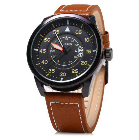 Outfit Curren 8210 Leather Band Men Quartz Watch