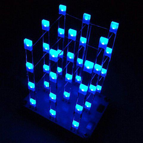 New 3 x 3 x 4 Color LED Light Cube Kit with 2 Button - WHITE  Mobile