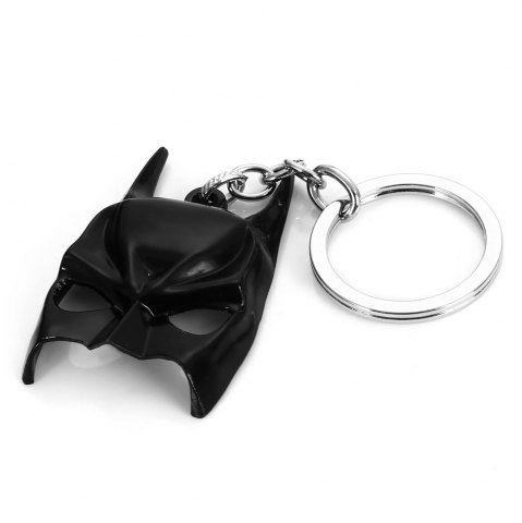 Best Dark Knight Mask Style Keyring Portable Key Chain BLACK
