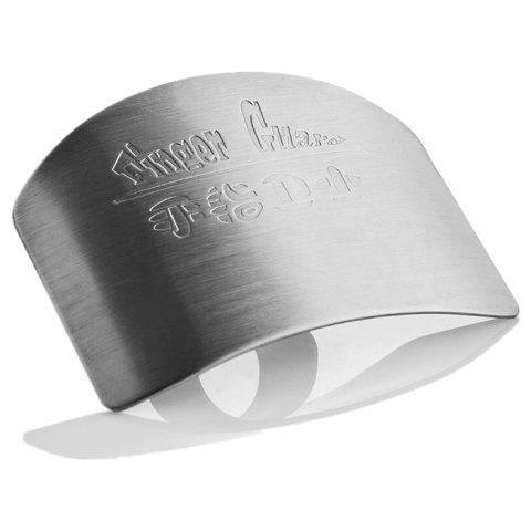 Hot Stainless Steel Finger Guard Safe Protector Chop Helper Tool - SILVER  Mobile