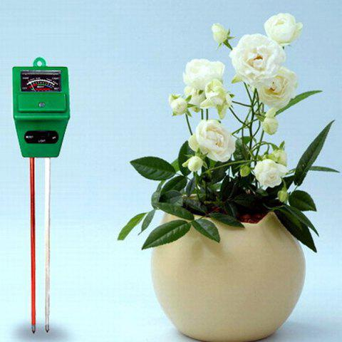 Unique Practical 3 in 1 Soil pH Tester Humidity Meter Light Monitor High Precision - GREEN  Mobile
