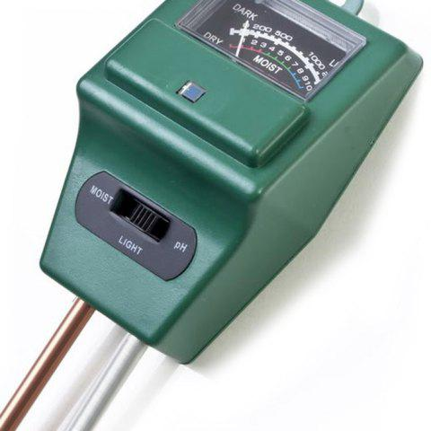 Shop Practical 3 in 1 Soil pH Tester Humidity Meter Light Monitor High Precision - GREEN  Mobile