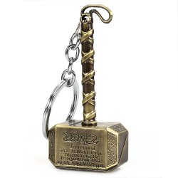 Portable The Avengers-Thor Style Metal Bulk Key Chain Cool Accessory - GOLDEN