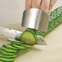 Stainless Steel Finger Guard Safe Protector Chop Helper Tool