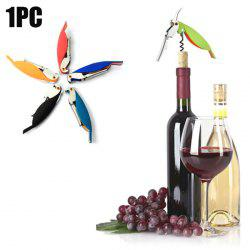 Parrot Shape Stainless Steel Bottle Opener Corkscrew Opening Tool - COLORMIX