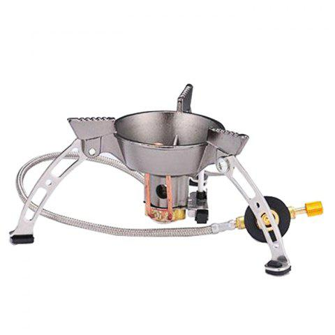 Cheap BRS-11 Outdoor Separated Type Stove Head with Rotary Flame - SILVER  Mobile