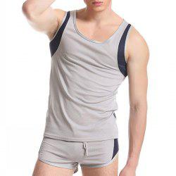 Men Breathable Running Short Tops for Fitness