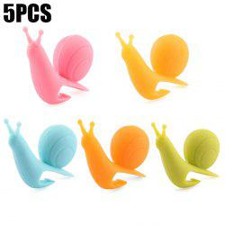 5PCS Cute Silicone Snail Shape Tea Bag Holder Creative Teabags Filter Strainer -