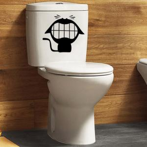 Creative Laughing Cat Closestool Toilet Sticker Wall Decal Bathroom Decoration -