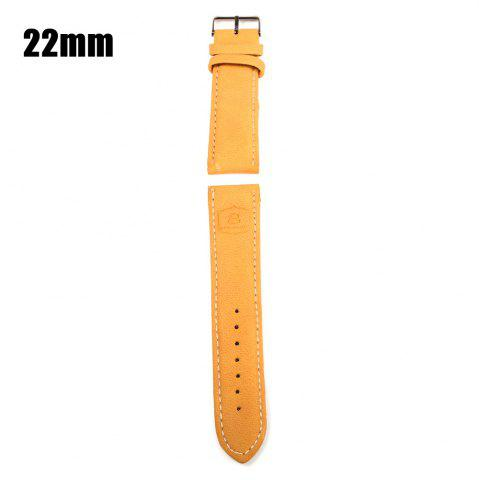 YELLOW 22mm Leather Strap