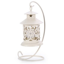 Classical Moroccan Style Iron Candle Holder Lantern Candlestick -