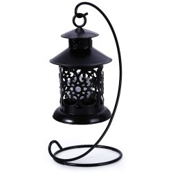 Classical Moroccan Style Iron Candle Holder Lantern Candlestick
