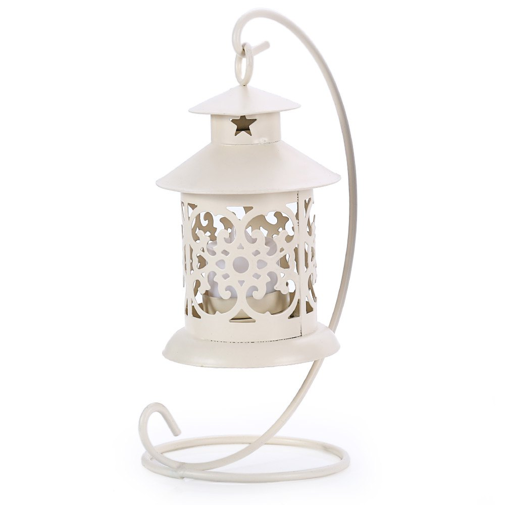 Trendy Classical Moroccan Style Iron Candle Holder Lantern Candlestick