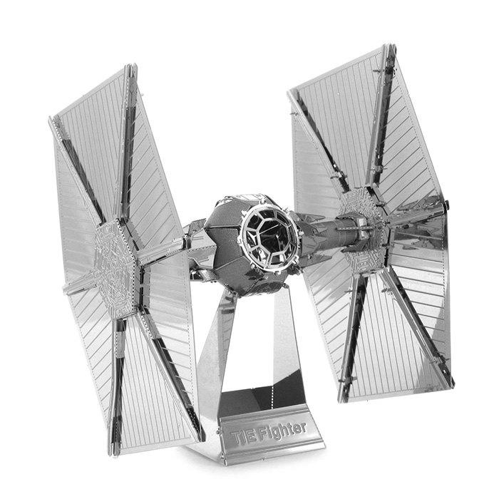 Fancy Tie Fighter Metallic Building Puzzle Educational DIY Assembling Toy