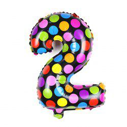 Pantong 16 inch Foil Cute Number Balloon Festival Home Party Decoration - COLORMIX