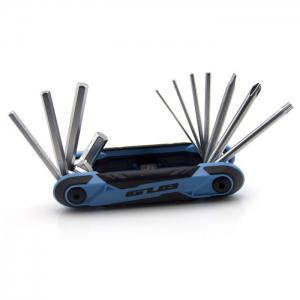 GUB HS-111 Multifuntional Bicycle 11-in-1 Repairing Tool with Mulitiple Hex Wrench - Blue