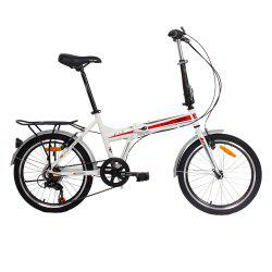 F1 20 inches 7 Speed Folding Bicycle with High Carbon Steel Front Fork