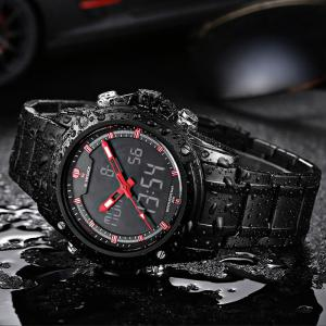 Naviforce Backlight 30M Water Resistance Double Movt Male Watch -