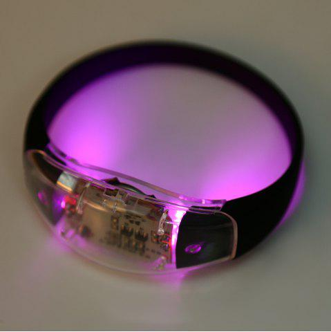 Multi-function Voice Control LED Light Wristband for Night Cycling - Pink