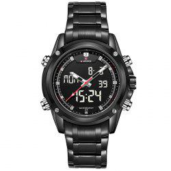 Naviforce 3684 Backlight 30M Water Resistance Double Movt Male Watch -