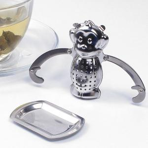 Stainless Steel Monkey Shape Tea Filter Creative Teabags Strainer - SILVER