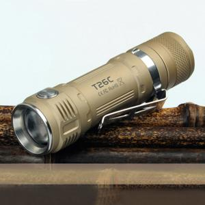 Sunwayman T26C Flashlight CREE XM - L2 U3 800LM Compact LED Flashlight - Champagne - Cedar