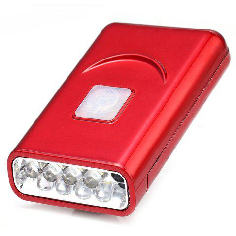 Affordable G017 USB Rechargeable Hat Clip Light with 40 Lumens 5 LED for Outdoor Camping - RED  Mobile