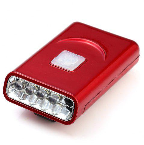 Discount G017 USB Rechargeable Hat Clip Light with 40 Lumens 5 LED for Outdoor Camping - RED  Mobile