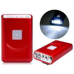 G017 USB Rechargeable Hat Clip Light with 40 Lumens 5 LED for Outdoor Camping - RED