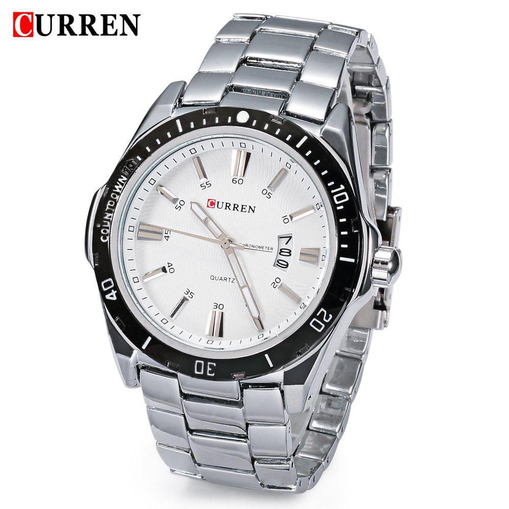 Outfits CURREN 8110 Men Quartz Watch Stainless Steel Band Date Sports Wristwatch