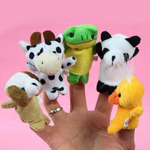 10Pcs Finger Puppet Cartoon Animal Style High Quality Plush Toy -