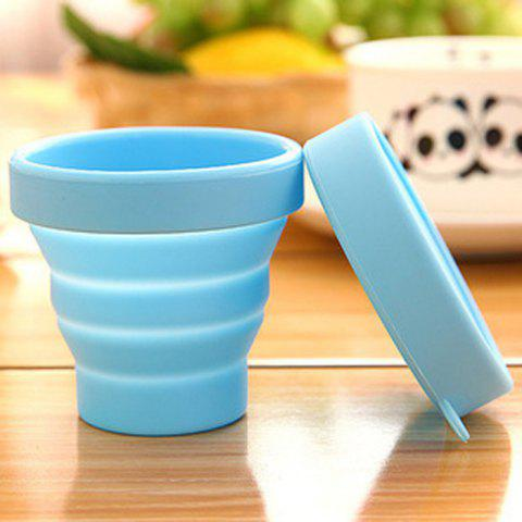 Fashion Silicone Mini Flexible Cup Portable Folding Bottle for Travel Outdoor Trip - BLUE  Mobile