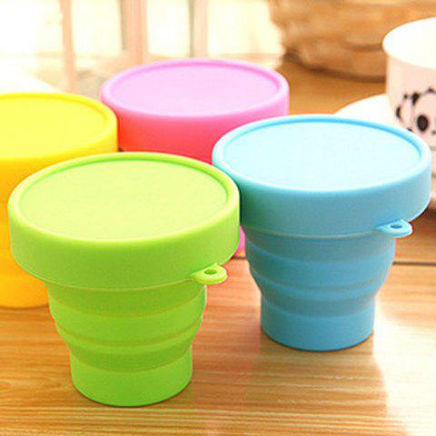 Outfits Silicone Mini Flexible Cup Portable Folding Bottle for Travel Outdoor Trip - BLUE  Mobile