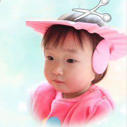 Kids Care Safe Shampoo Cap with Ear Wash Shield Thick Bath Adjustable Protection Hat -
