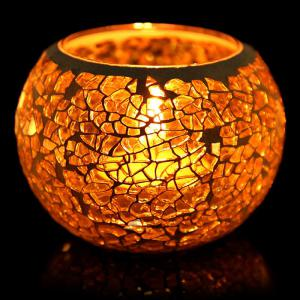 European Mosaic Glass Style Candle Holder Decorative Candlestick Home Wedding Decor Gift - Colorful - F Style