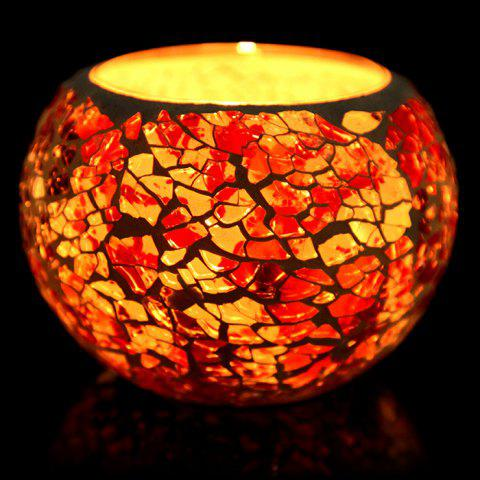 Shop European Mosaic Glass Style Candle Holder Decorative Candlestick Home Wedding Decor Gift - E STYLE COLORFUL Mobile
