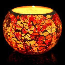 European Mosaic Glass Style Candle Holder Decorative Candlestick Home Wedding Decor Gift - COLORFUL E STYLE