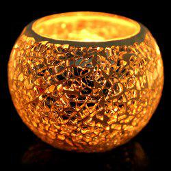 European Mosaic Glass Style Candle Holder Decorative Candlestick Home Wedding Decor Gift - COLORFUL