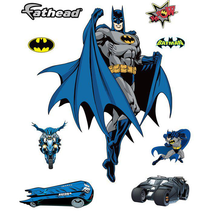 Creative Batman Shaped Wall Sticker Removable Wallpaper Home Art DecalsHOME<br><br>Color: COLORMIX; Subjects: Famous; Art Style: Plane Wall Stickers; Sizes: 60 x 90cm; Functions: Decorative Wall Stickers; Hang In/Stick On: Bedrooms,Cafes,Car,Closestool,Hotels,Kids Room,Living Rooms,Lobby,Nurseries,Offices,Stair; Material: Vinyl(PVC);