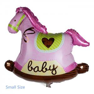 Auto-Seal Wooden Horse Foil Balloon Reuse Party / Wedding Decor Inflatable Gift for Children