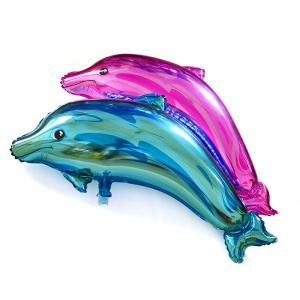 Dolphin Foil Balloon Auto-Seal Reuse Party / Wedding Decor Inflatable Gift for Children -