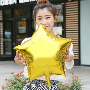 18 inch Auto-Seal Five-pointed Star Foil Balloon Reuse Party / Wedding Decor Inflatable Gift for Children -