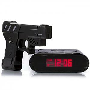 Infrared Sensing Gun Shot Alarm for Lazy Guy with Snooze / LCD Display -