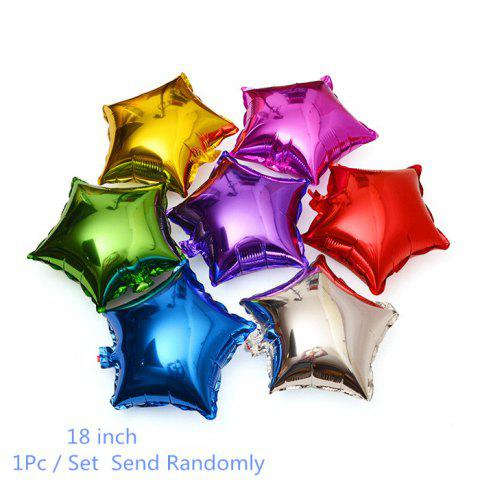 Buy 18 inch Auto-Seal Five-pointed Star Foil Balloon Reuse Party / Wedding Decor Inflatable Gift for Children
